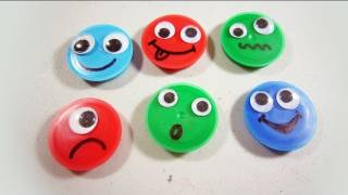 How to make silly recycled emoticon magnets