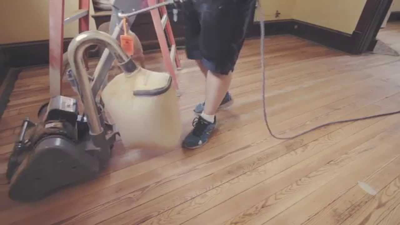 Refinishing 100 Year Old Hardwood Floors Sanding Staining Polyurethane