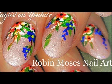 Hanging Flower Garden Nails | Rainbow Floral Nail Art Design Tutorial