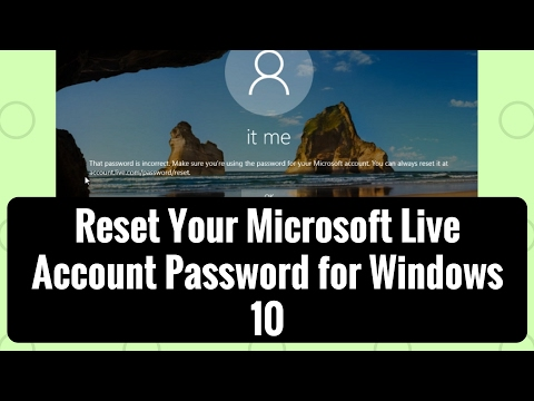 Reset Your Microsoft Live Account Password for Windows 10