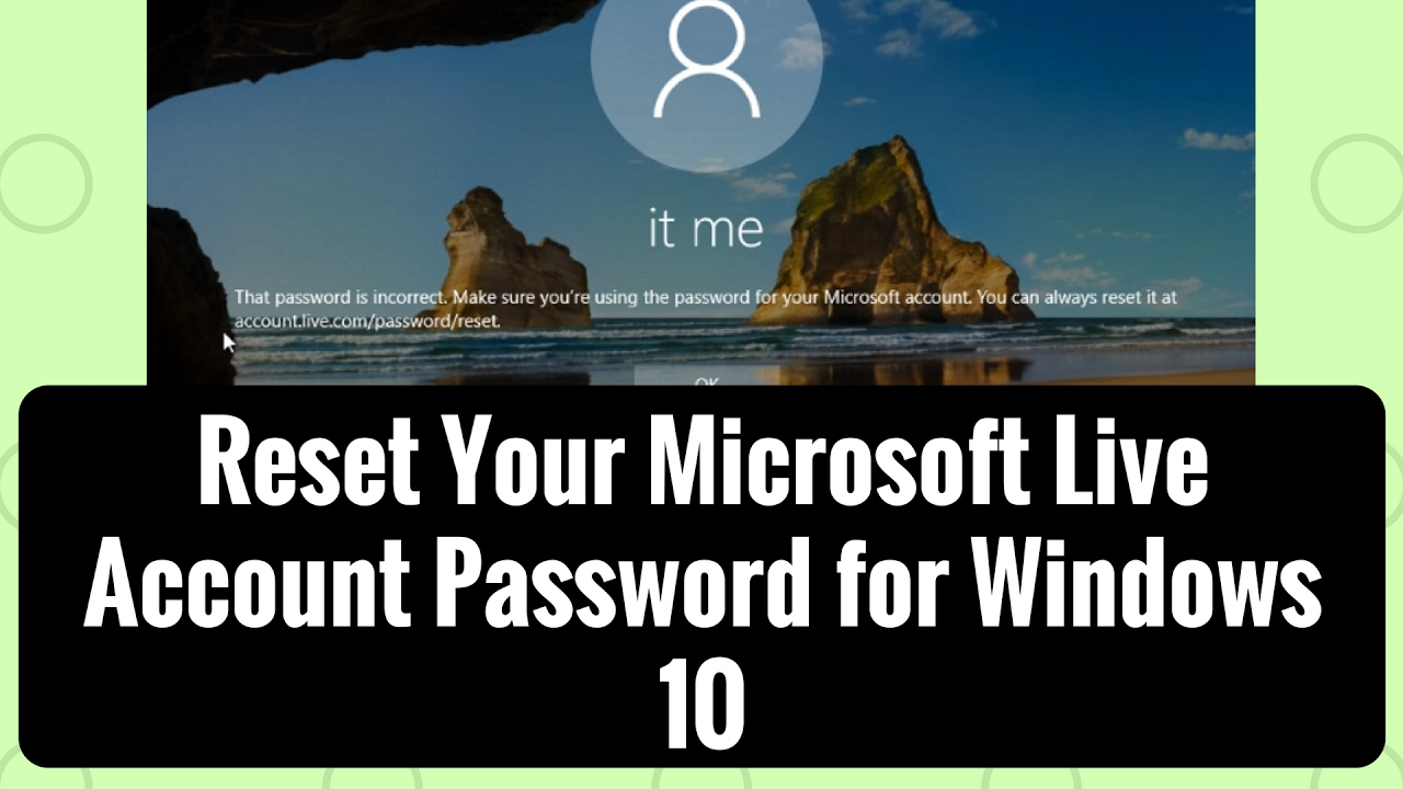 Create Acount Live Score Reset Your Microsoft Live Account Password For Windows 10