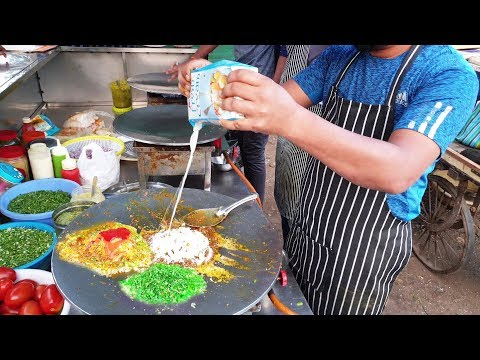 Amul Creamy Omelette Egg Pasta : Jay Bhole Omelette , Adajan , Surat || Street Food Egg Recipe Hindi