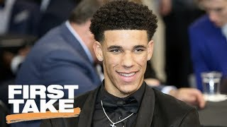 Stephen A. Smith Says Lonzo Ball Can Attract Free Agents To Lakers | First Take | June 23, 2017
