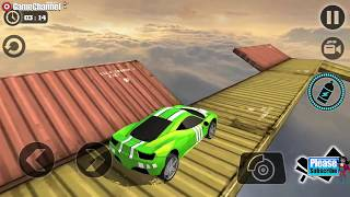 Impossible Stunt Car Tracks 3D / New Vehicle 2017 / Ultimate Car Driving / Android Gameplay Video #4