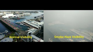 Sydney Smoke Visibility: Darling Harbour View