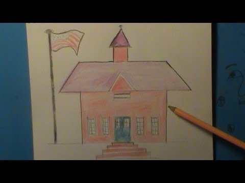 How to Draw a School - How to draw a school building - YouTube