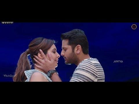 Nithin   Rashi khanna Romantic Kissing scene 💞 Feel the sound 💞 WhatsGuru 🌀