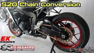 Honda Fireblade | Project Series #6 | 520 Chain Conversion | RENTHAL | EK