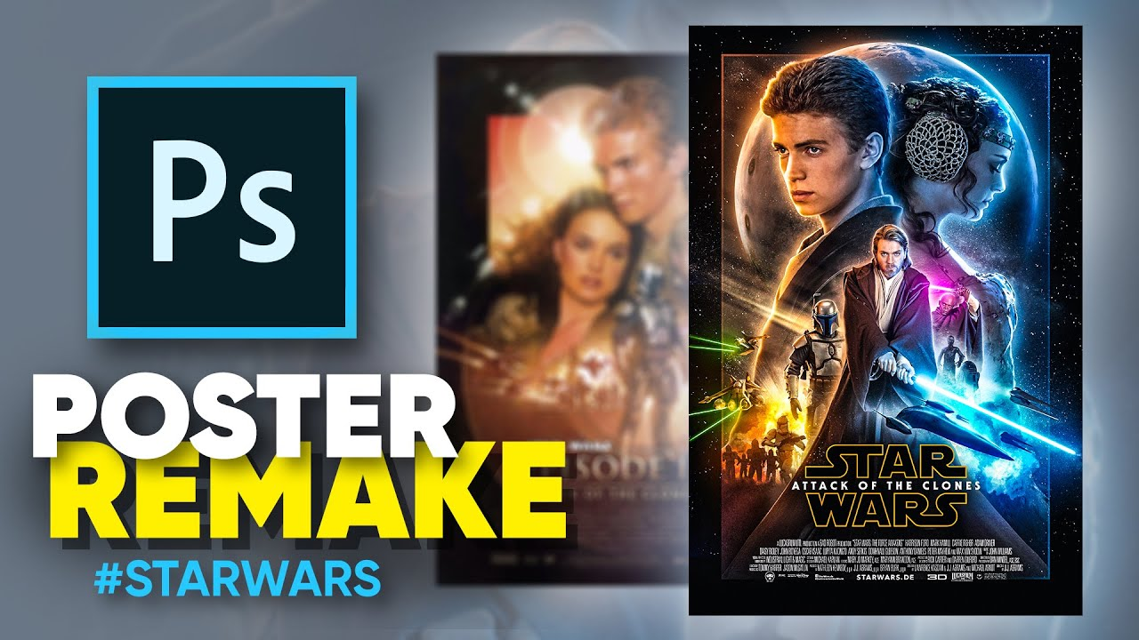 How I Remade The Attack Of The Clones Poster Photoshop Youtube
