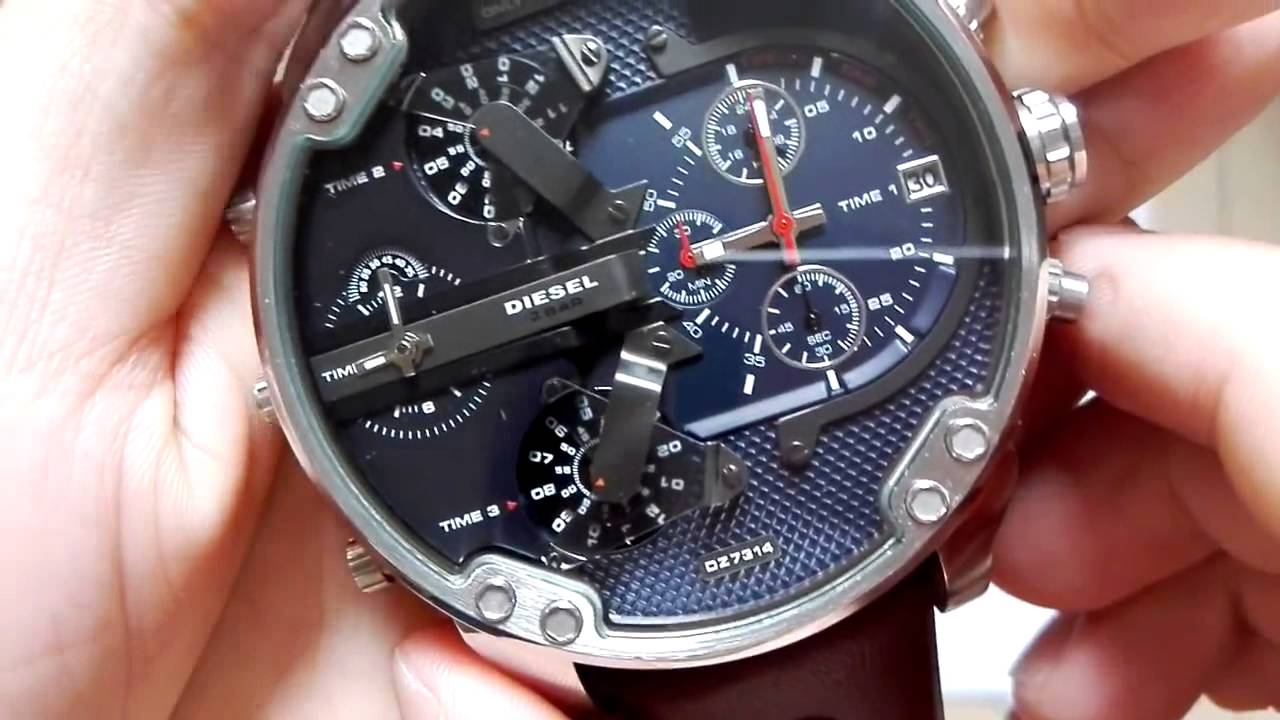 c2a9374fa7da Review Watches Relogio Relozhes Diesel Mr Daddy 2 0 DZ7314 - YouTube