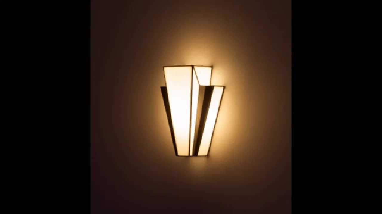 Art deco wall lights ideas - YouTube