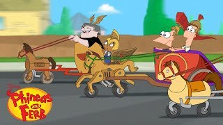 Chariot Race | Phineas and Ferb | Disney XD