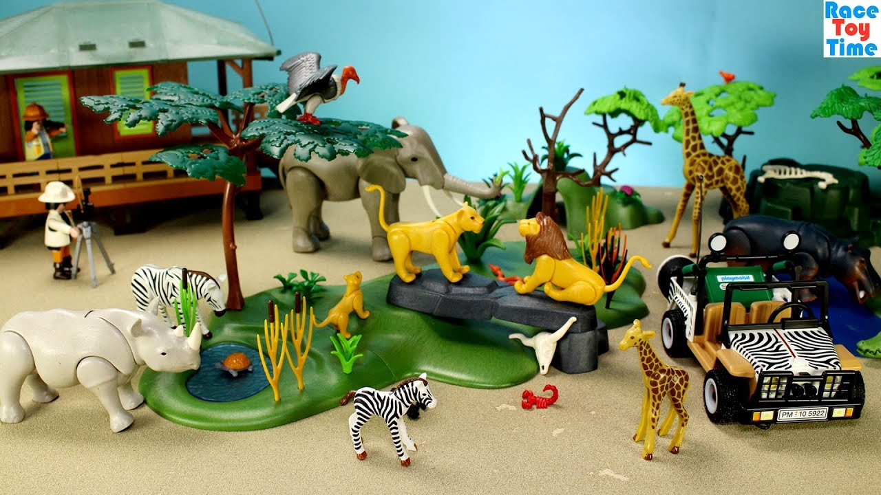 Playmobil Wildlife Safari Build And Play Toy Set With