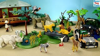 Playmobil Wildlife Safari Build and Play Toy Set with Animal Toys