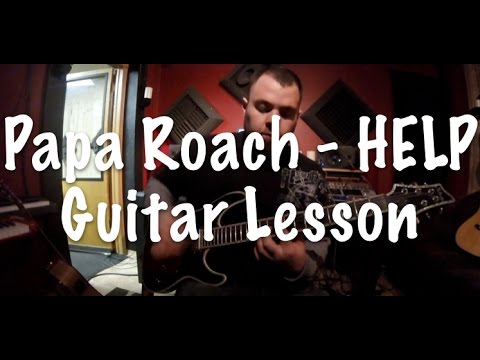 Papa Roach - HELP  Easy Guitar Lesson