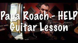 Papa Roach - HELP  Easy Guitar Lesson