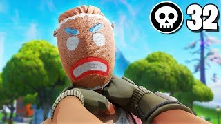 32 Kill Solo Squad Fortnite CHOKED! Fortnite Season X World Record Ghost Innocents