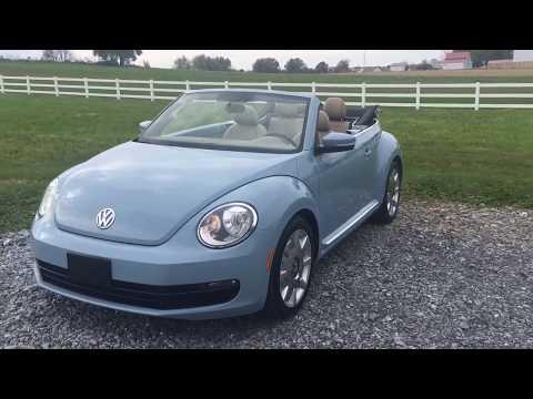 2014 Volkswagen Beetle 1.8T Convertible With Fender Sound & Navigation