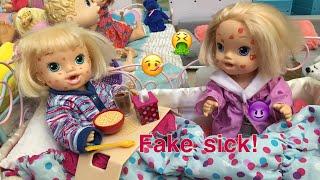 BABY ALIVE Lillian fakes sick