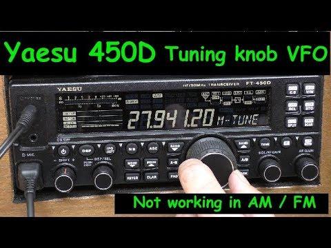 Yaesu 450D Main tuning dial VFO not working. Answer.