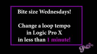 Logic Pro X - Changing tempo of a loop in less than 1 minute