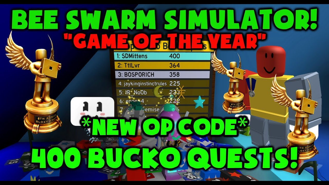 New Code Completing 400th Bucko Quest Bee Swarm Simulator