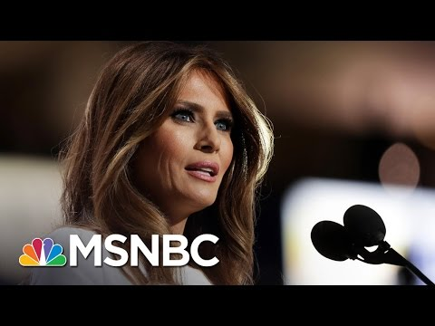 Melania Trump's Speech Reflects 'Poor Staff Work' | Andrea Mitchell | MSNBC