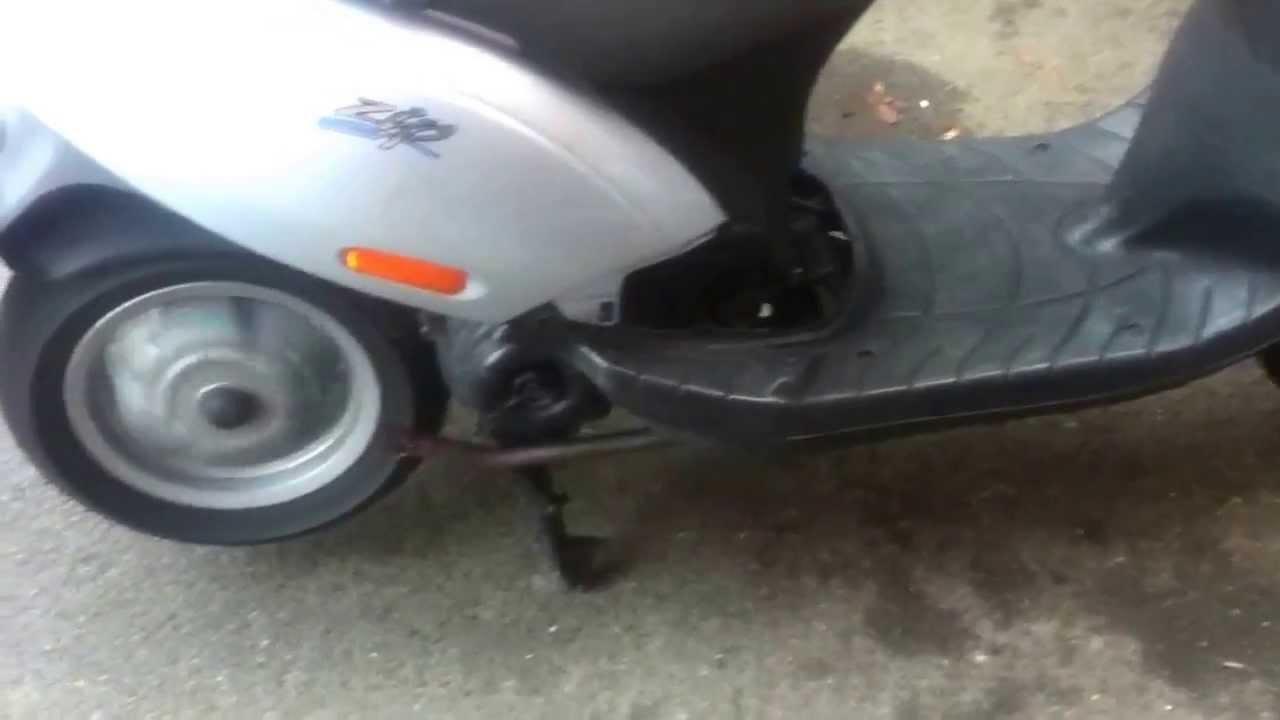 piaggio zip 4t half exhaust - youtube