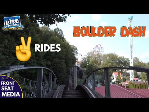 Two Rides On Boulder Dash Roller Coaster At Lake Compounce