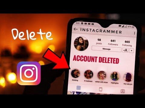 How to Delete Instagram Account Permanently ? 2019