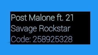 ROBLOX SAVAGE MUSIC ID CODES! PT. 2