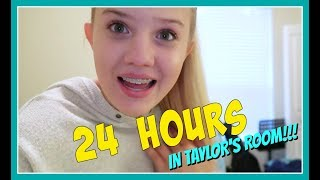 24 HOURS IN MY SISTERS ROOM ||Taylor and Vanessa