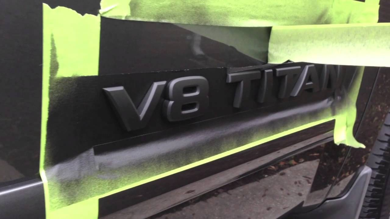 Plasti Dip Emblems >> HOW TO Plasti Dip Emblems (Nissan Titan) - YouTube