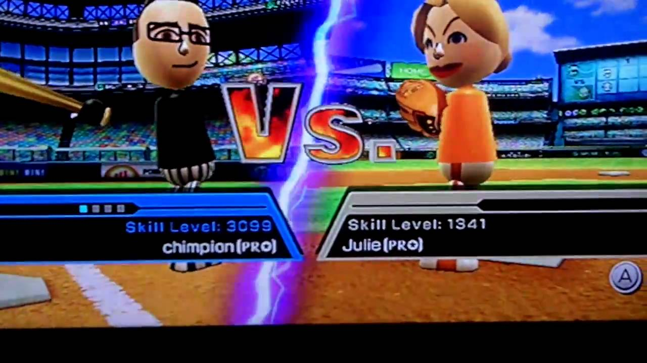 Wii Sports Baseball Skill Level Record 3099 Youtube