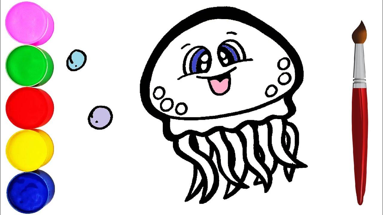 Qualle Zeichnen und Malen für Kinder