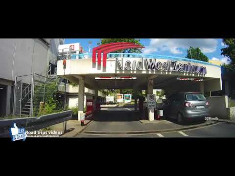 driving in Frankfurt am Main / Airport and Eschborn / July 2017 road trip