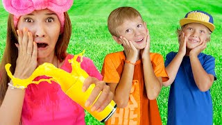 Tim and Essy have fun playing ball | Sorry Excuse me Kids Song