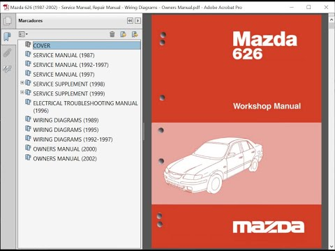 Mazda 626 1987 2002 Service Manual Repair Manual Wiring Diagrams Owners Manual Youtube