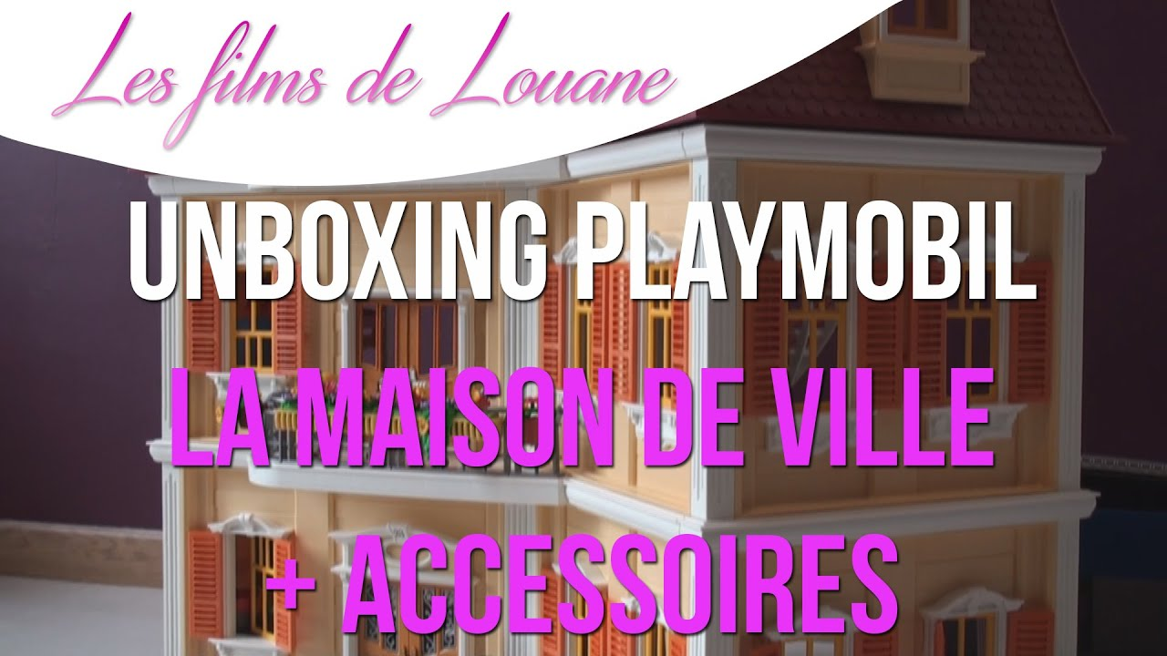 unboxing playmobil la maison de ville accessoires. Black Bedroom Furniture Sets. Home Design Ideas