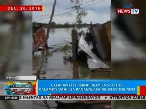 Calapan City, isinailalim sa satate of calamity dahil sa pananalasa ng Bagyong Nina