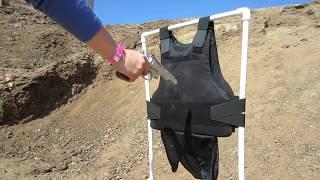 Skarr Armor® NIJ IIIA Certified Kevlar Body Armor Shot At Point Blank Range