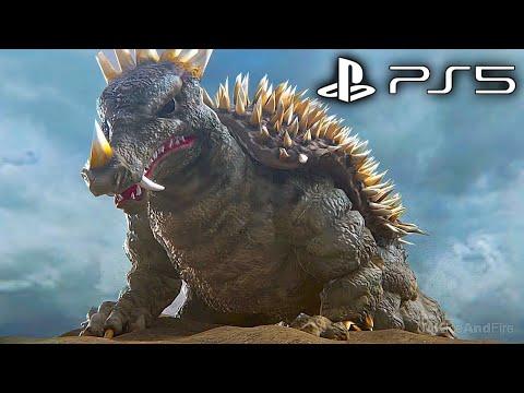 GODZILLA PS5 All Monster Intros Scenes 4K ULTRA HD