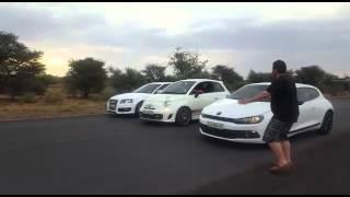 Audi S3 vs Fiat Abarth 500 vs Scirocco 2.0TSI(, 2016-01-02T12:33:01.000Z)