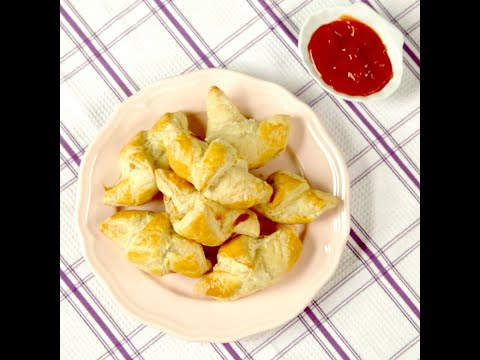 Salami and Cheese Mini Croissants