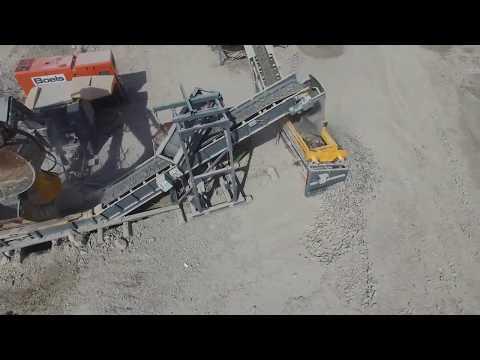 HARTL - переработка гранита, модульный передвижной ДСК на базе  щековой дробилки