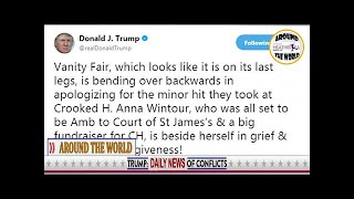 Trump mocks Vanity Fair after magazine is flamed by Hillary supporters for telling her to take up k