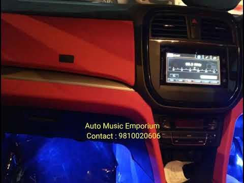 Brezza Seat Cover & Interior Modification in Red Colour Nappa Leather , Looks Beautiful