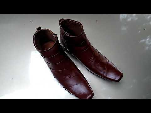 Alexander shoes MB28 caramel sepatu kulit pantofel boots
