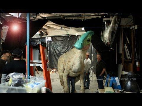 "Parasaurolophus Dinosaur Puppet ""Lily"" - Chiodo Bros. & Santa Barbara Zoo"