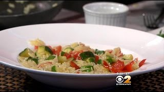 Stephanie And Tony's Table: Orzo With Zucchini And Red Peppers